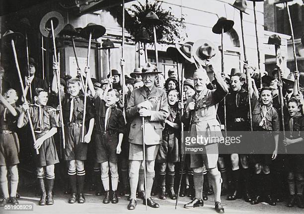 Lord Robert BadenPowell the founder of Scouts at a party for his 75th birthday 1932 Photograph