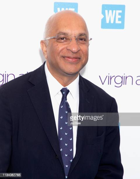 Lord Rumi Verjee attends We Day UK at SSE Arena Wembley at SSE Arena on March 06 2019 in London England