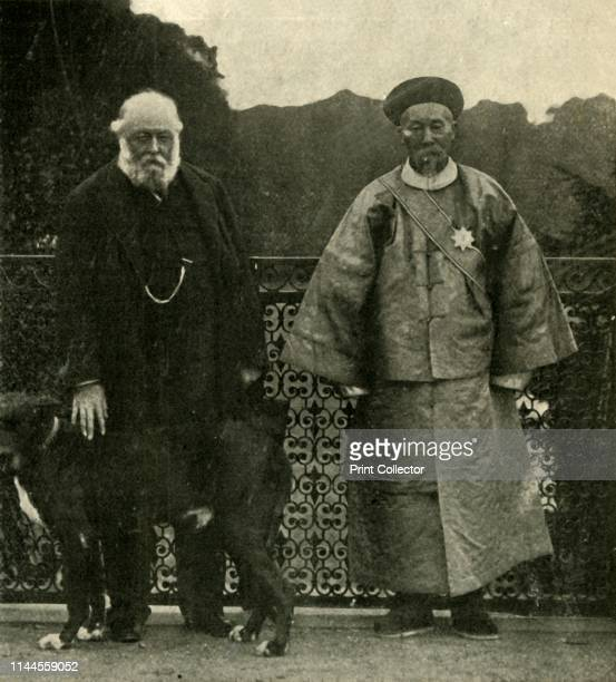 Lord Salisbury and Li Hung Chang' 1901 From The Harmsworth Magazine Volume VI February 1901July 1901 by [Harmsworth Bros Limited London 1901] Artist...