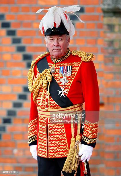 Lord Samuel Vestey, Master of the Horse attends the ceremonial welcome for Irish President Michael D Higgins on April 8, 2014 in Windsor, England....