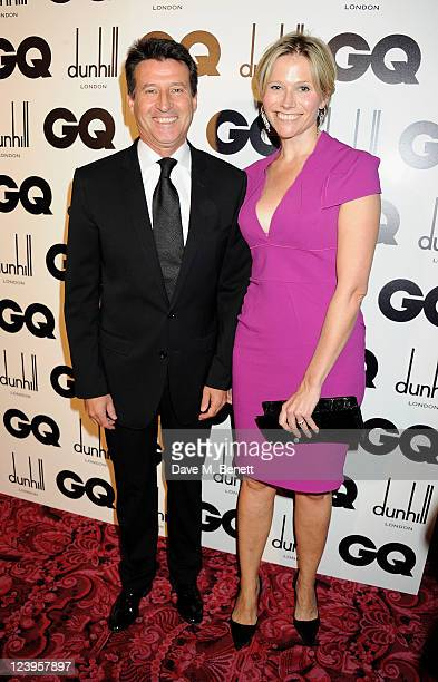 Lord Sebastian Coe and Carole Annett arrive at the GQ Men Of The Year Awards 2011 at The Royal Opera House on September 6 2011 in London England