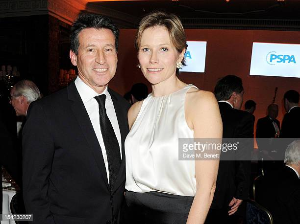 Lord Sebastian Coe and Carole Annett attend Lord Coe's 'Journey to 2012' event for the PSP Association at The Dorchester on October 16 2012 in London...