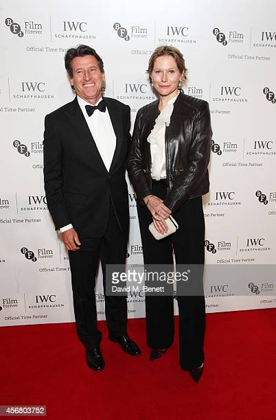 Lord Sebastian Coe and Carole Annett attend the BFI London Film Festival IWC Gala Dinner in honour of the BFI at Battersea Evolution Marquee on...