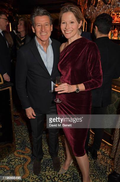 Lord Sebastian Coe and Carole Annett attend the 'Country Town House Great British Brands' party at Annabel's on January 27 2020 in London England
