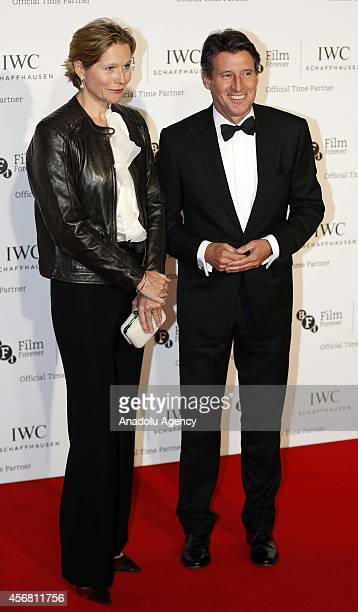 Lord Sebastian Coe and his wife Carole Annett attend the BFI London Film Festival IWC Gala Dinner in honour of the BFI at Battersea Evolution Marquee...