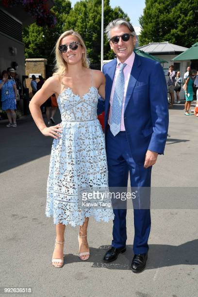 Lord Sebastian Coe and Maddy Coe attend day five of the Wimbledon Tennis Championships at the All England Lawn Tennis and Croquet Club on July 6 2018...