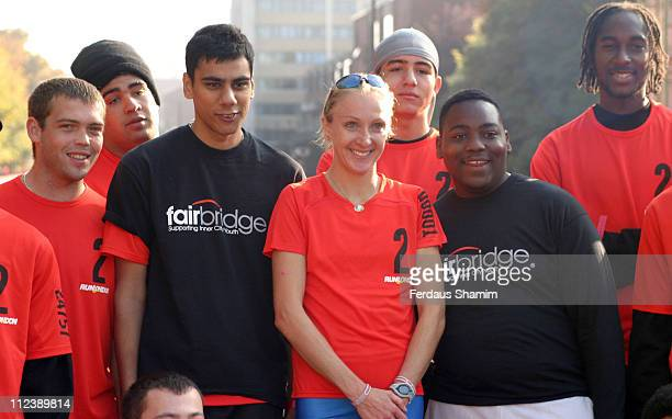 Lord Sebastian Coe and Paula Radcliffe during Nike 10K Run London Photocall at Hyde Park in London Great Britain