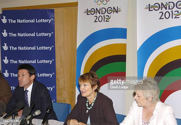 Lord Sebastian Coe and Tessa Jowell MP and Dianne Thompson