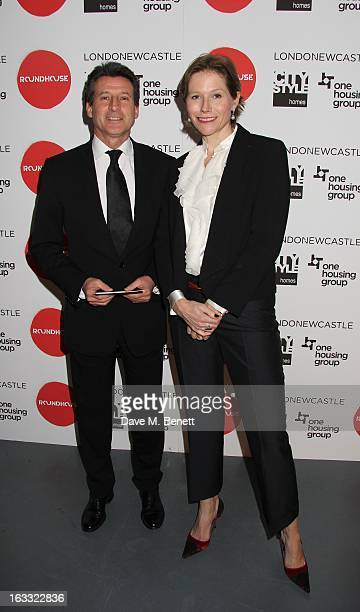 Lord Sebastian Coe and wife Carole Annett attend the Roundhouse Gala Evening 2013 at The Roundhouse on March 7 2013 in London England