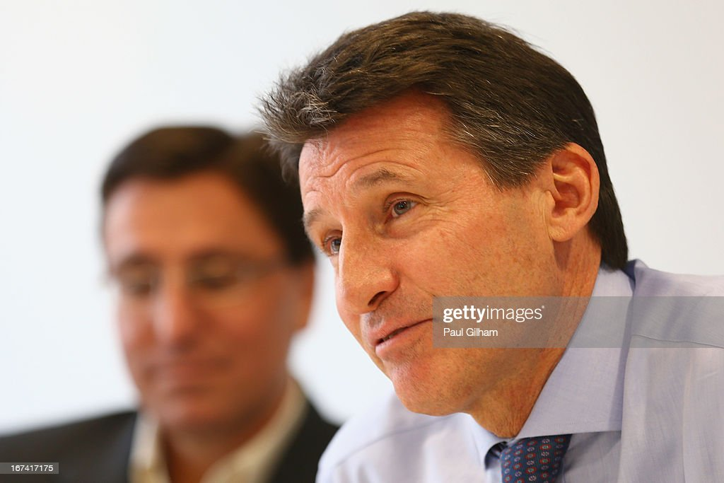 Lord Sebastian Coe of the BOA talks to the media during a British Olympic Association Media Briefing at the BOA Headquarters on April 25, 2013 in London, England.