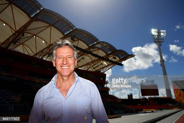 Lord Sebastian Coe poses during day four of the Gold Coast 2018 Commonwealth Games at Carrara Stadium on April 8, 2018 on the Gold Coast, Australia.