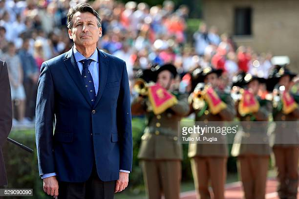 Lord Sebastian Coe President of IAAF looks ond during the IAAF World Race Walking Team Championship Rome 2016 Opening Ceremony on May 7 2016 in Rome...