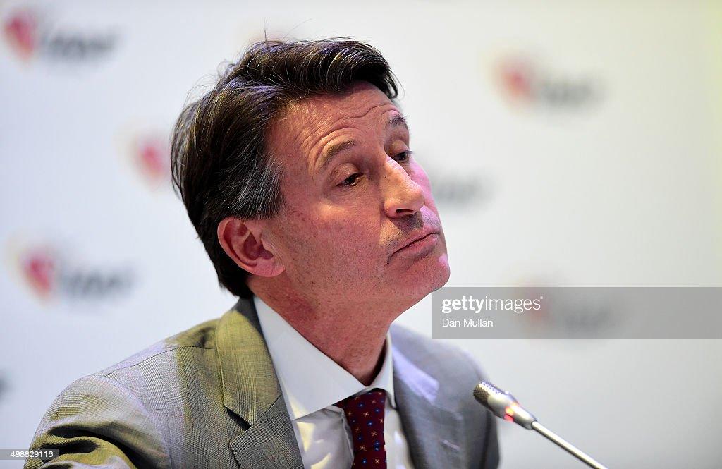 IAAF Press Conference : News Photo