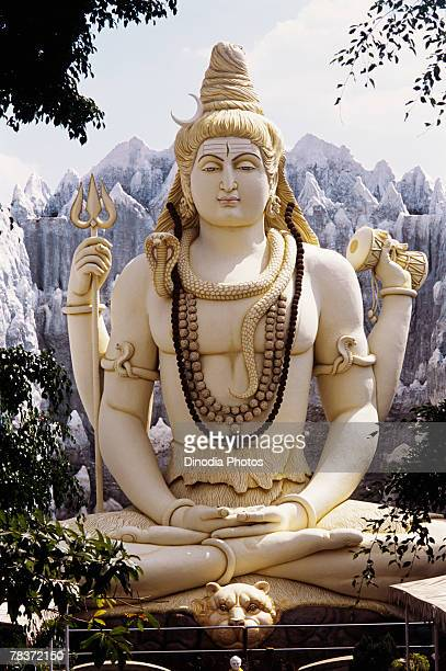 lord shankar statue, bangalore, india - hindu god stock photos and pictures