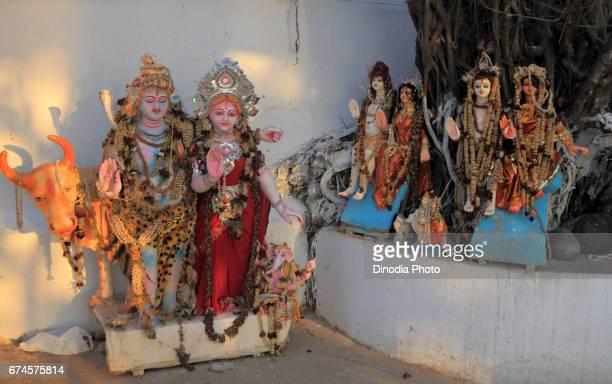 Lord shiva and parvati statue, kolkata, west bengal, india, asia