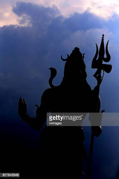 lord siva silhouette - shiva stock pictures, royalty-free photos & images