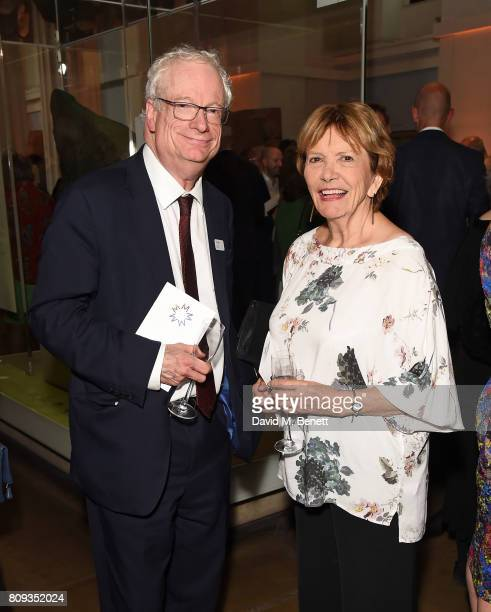 Lord Smith of Finsbury and Baroness Bakewell attend the Art Fund Museum Of The Year drinks reception at The British Museum on July 5 2017 in London...