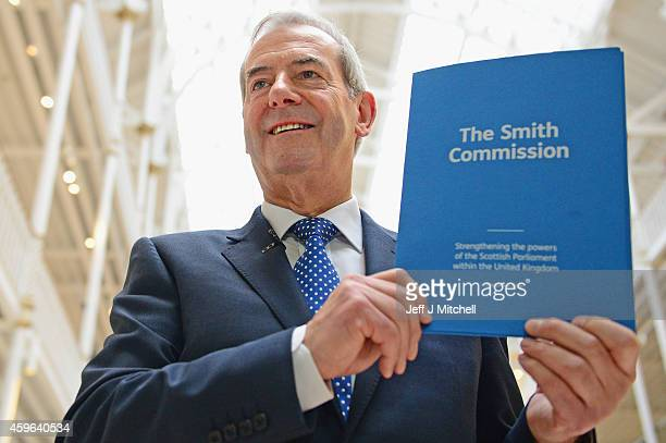 Lord Smith presents the recommendations of The Smith Commission at the National Museum of Scotland on November 27 2014 in Edinburgh Scotland Lord...