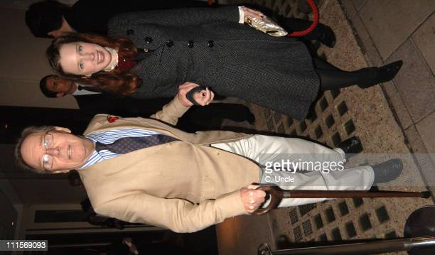 Lord Snowdon and guest during Vogue List Party November 8 2005 at Nobu Berkely Square in London Great Britain