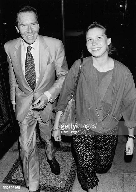 Lord Snowdon and his daughter Lady Sarah Armstrong Jones arriving at a production of 'Mellon' at the Haymarket Theatre in London July 6th 1987