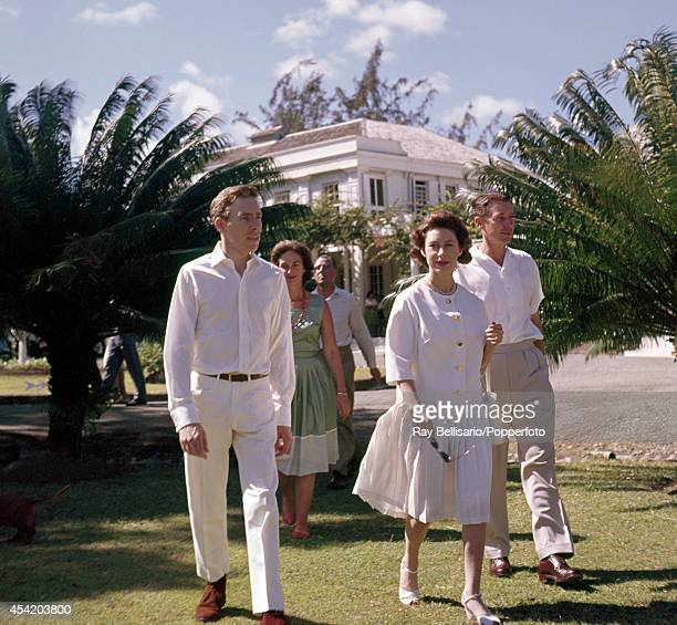 Lord Snowdon and Princess Margaret on holiday in the grounds of Government House in St John's Antigua on 6th January 1962