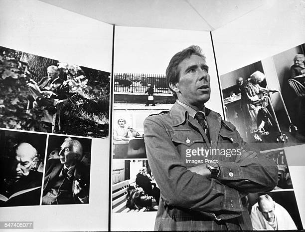 Lord Snowdon at an exhibition of his photographs circa 1975 in New York City