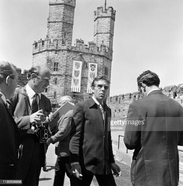 Lord Snowdon discusses arrangements for the ceremony ahead of the investiture of the Prince of Wales at Caernarfon Castle, Gwynedd, Wales, 30th June...