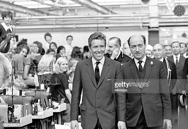 Lord Snowdon husband of Princess Margaret visits the Burton's Hudson Road Factory during a tour of Leeds 8th July 1966
