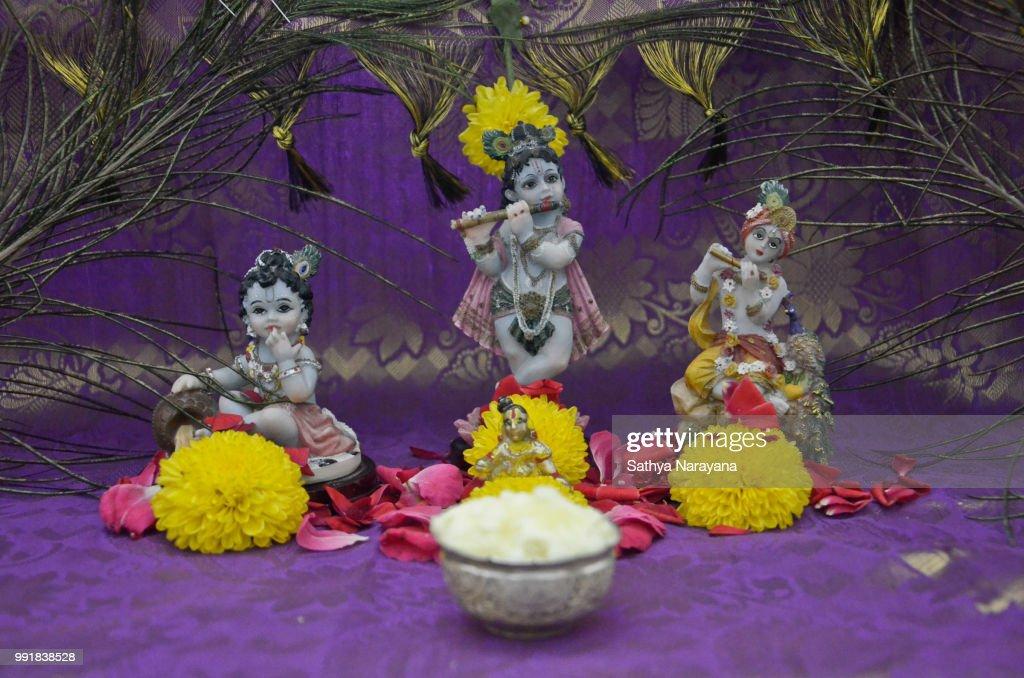 Lord Sri Krishna Stock Foto Getty Images