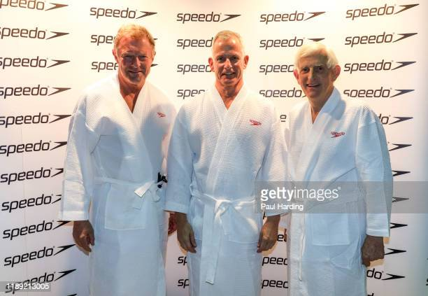 Lord St John of Bletso Lord Paddick and Lord Stoneham at the biennial Hope For Youth Charity Swim sponsored by Speedo at London's Porchester Hall on...