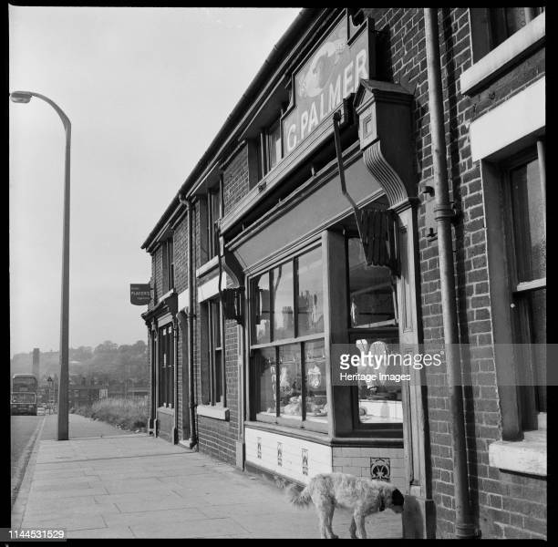 Lord Street, Etruria, Hanley, Stoke-on-Trent, 1965-1968. A view looking south west showing numbers 114-118 Lord Street with the premises of G Palmer,...