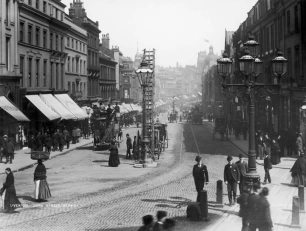 Lord Street in Liverpool, circa 1900.