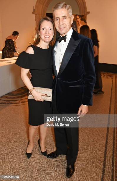 Lord Stuart Rose and Anna Hartropp attend the Portrait Gala 2017 sponsored by William Son at the National Portrait Gallery on March 28 2017 in London...