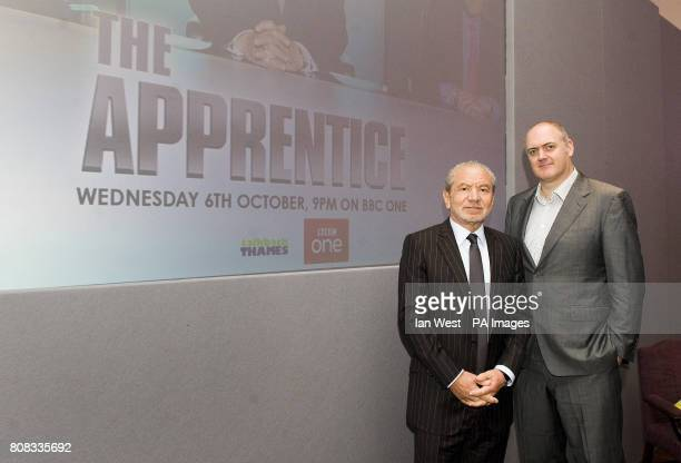 Lord Sugar and Dara O'Briain during the launch of a new series of BBC1's The Apprentice which starts on Wednesday October 6th