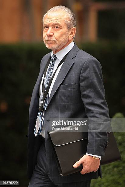 Lord Sugar arrives in Downing Street on October 14 2009 in London