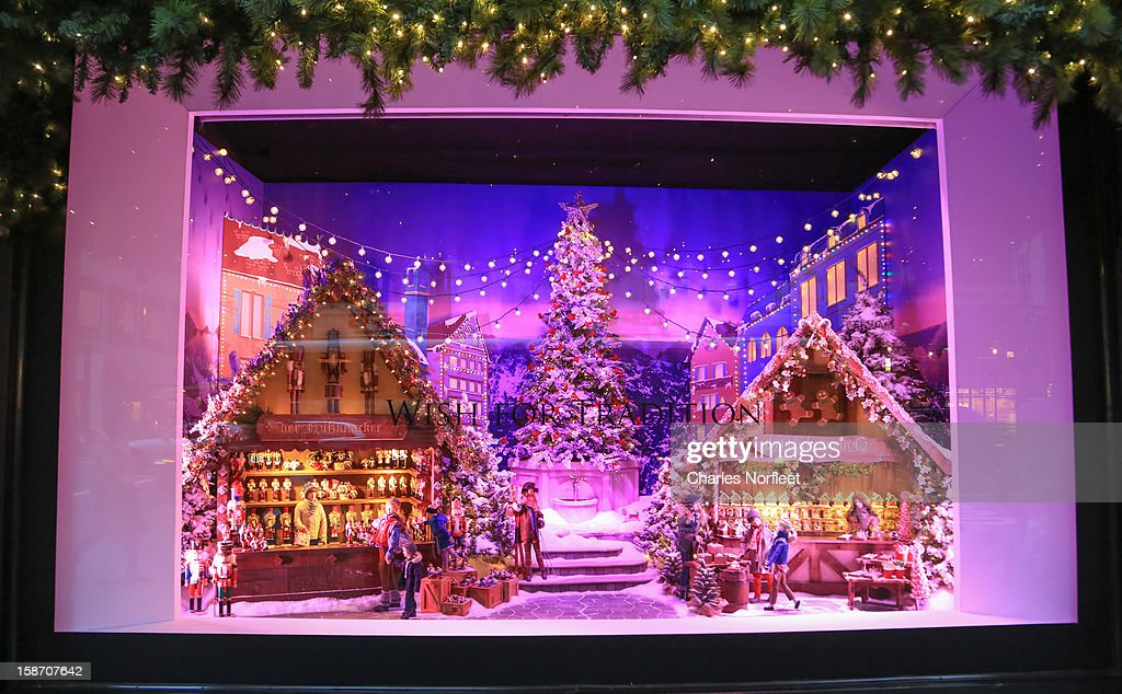 Lord & Taylor holiday window display on December 24, 2012 in New York City.