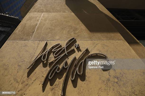 Lord Taylor sign is displayed on its flagship store on 5th Avenue in Manhattan on June 6 2018 in New York City The 192yearold chain owned by Canada's...
