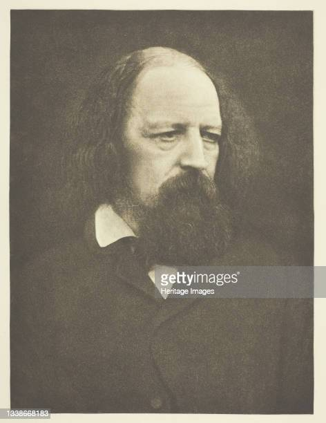 Lord Tennyson printed October 1890. A work made of photogravure, from 'sun artists, number 5' . Artist Julia Margaret Cameron.