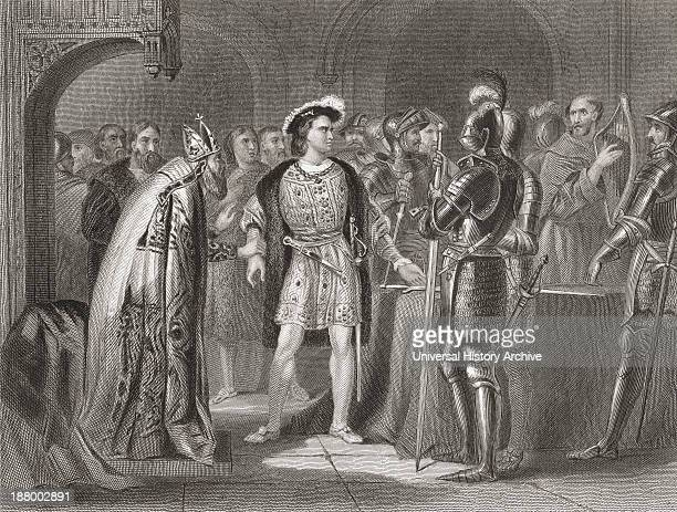 Lord Thomas Fitzgerald Renouncing His Allegiance To Henry Viii In 1534 Thomas Fitzgerald 10Th Earl Of Kildare 1513 To 1537 Drawn By H Warren From...