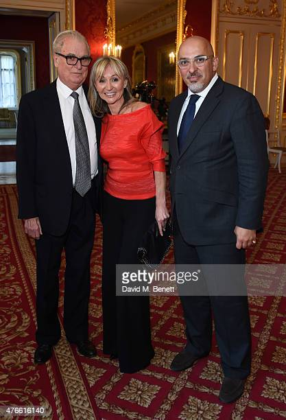 Lord Tim Bell Jackie Philips and Nadhim Zahawi MP attend the Bell Pottinger Summer Party at Lancaster House on June 10 2015 in London England