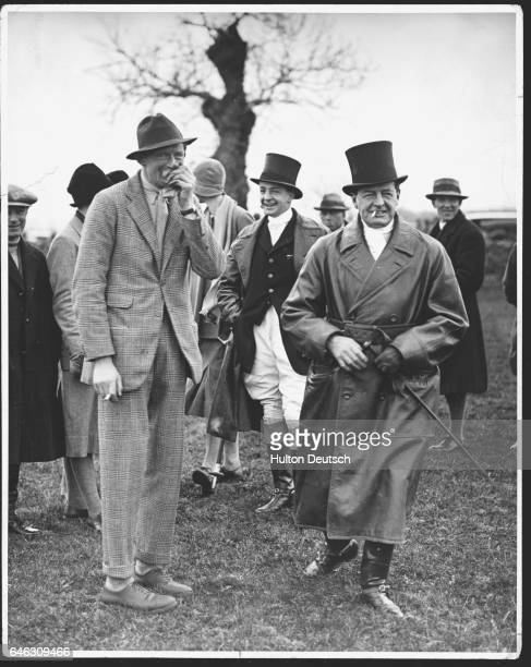 Lord Westmoreland Viscount Borrodale and the Royal Navy admiral Earl David Beatty attend an army pointtopoint steeplechase