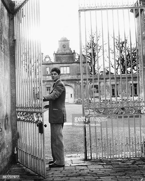 Lord Weymouth or Alexander Thynne 7th Marquess of Bath pictured in the grounds of his home at Longleat Warminster circa 1960