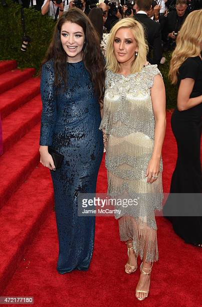Lorde and Ellie Goulding attend the China Through The Looking Glass Costume Institute Benefit Gala at the Metropolitan Museum of Art on May 4 2015 in...