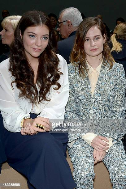 Lorde and Heloise Letissier attend the Chloe show as part of the Paris Fashion Week Womenswear Fall/Winter 2015/2016 on March 8 2015 in Paris France
