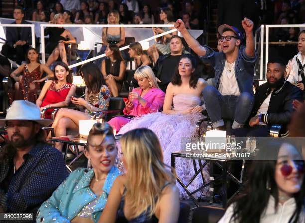 Lorde and Jack Antonoff attend the 2017 MTV Video Music Awards at The Forum on August 27, 2017 in Inglewood, California.