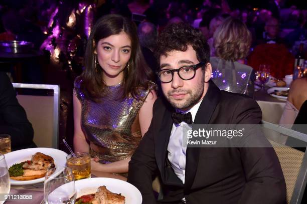 Lorde and Jack Antonoff attend the Clive Davis and Recording Academy PreGRAMMY Gala and GRAMMY Salute to Industry Icons Honoring JayZ on January 27...
