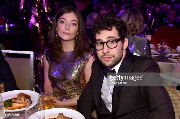 Lorde and Jack Antonoff attend the Clive Davis and Recording Academy Pre-GRAMMY Gala and GRAMMY Salute to Industry Icons Honoring Jay-Z on January...