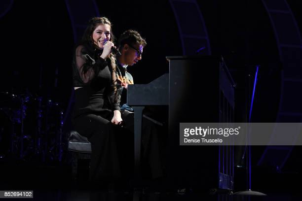 Lorde and Jack Antonoff onstage during the 2017 iHeartRadio Music Festival at T-Mobile Arena on September 23, 2017 in Las Vegas, Nevada.