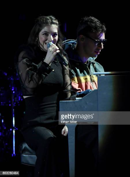 Lorde and Jack Antonoff perform during the 2017 iHeartRadio Music Festival at T-Mobile Arena on September 23, 2017 in Las Vegas, Nevada.