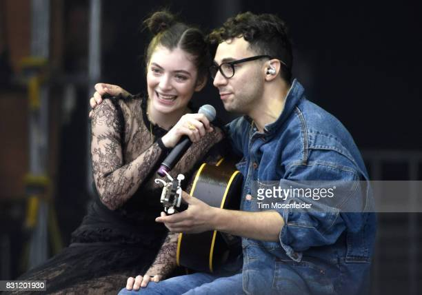 Lorde and Jack Antonoff perform during the 2017 Outside Lands Music and Arts Festival at Golden Gate Park on August 13, 2017 in San Francisco,...